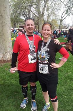 We ran another 13.1 miles, despite the fact that no one was chasing us. Yet again.
